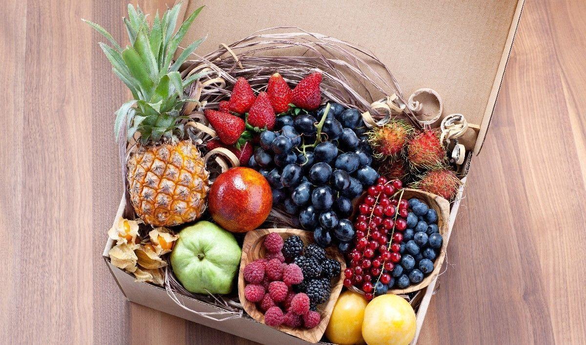 готовые коробки фруктов